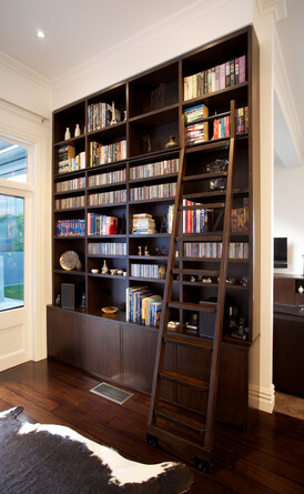 Library designed by Du Bois Design/ Photographer Jamie Cobel