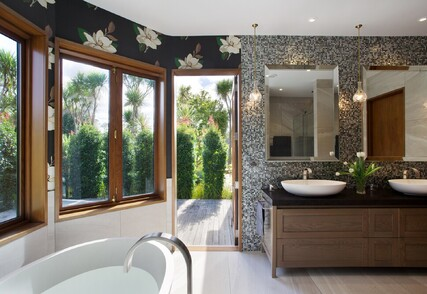 CONTEMPORARY GRAND - Featured bathrooms, kitchen, powder room and interior, Oratia