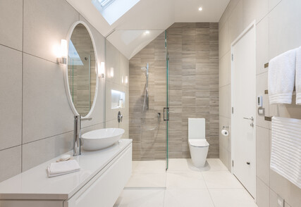 MODERN FORM - Powder room, award winning guest bathroom and ensuite, Remuera