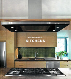 "2012 Front cover and two kitchen features in International hard cover publication ""Kitchens"" by Fisher and Paykel"