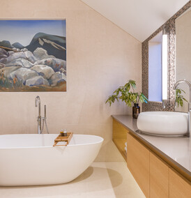 NATURAL SANCTUARY - Guest bathroom and master ensuite, Whitford