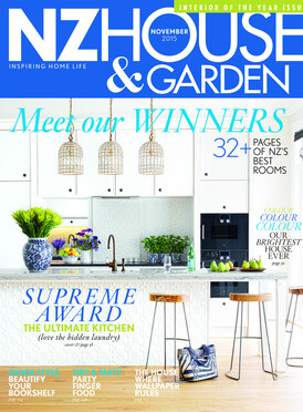 2015 Front cover of NZ House and Garden November Issue