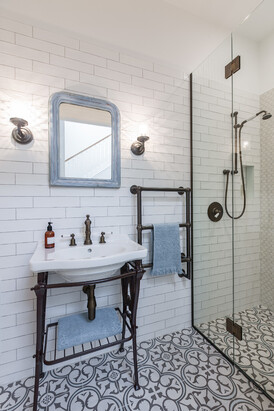 Bathroom designed by Natalie Du Bois / Photo by Kallan Mac Leod