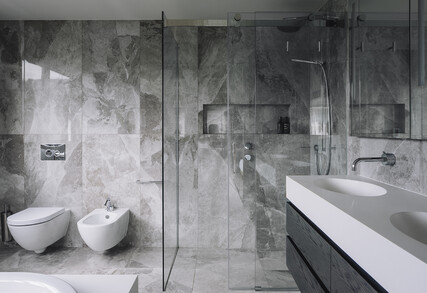 NEUTRAL MINIMALIST - Awarded and featured bathroom, kitchen and powder room, Parnell